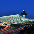Washington Dulles International Airport At Dusk by Paul Fearn