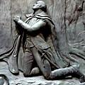 Washington Kneeling In Praying by Ed Weidman