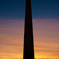 Washington Monument At Sunset by Mark Dodd