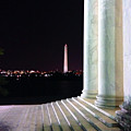 Washington Monument From Stairs Of Jefferson by Brian O'Kelly