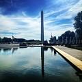 Washington Monument Reflected by Angela Rath