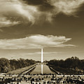 Washington Monument Reflecting Pool National Mall by Kyle Hanson