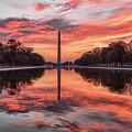 Washington Monument Sunrise by Erika Fawcett