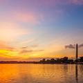 Washington Monument Sunset by Chris Bordeleau