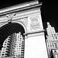 Washington Square Arch In New York City by John Rizzuto