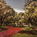 Washington Square In Mobile Alabama Painted by Michael Thomas