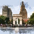 Washington Square Park Greenwich Village New York City by Elaine Plesser
