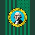 Washington State Flag Graphic Usa Styling by Garaga Designs