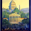 Washington The City Beautiful  by Nostalgic Prints