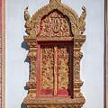Wat Buppharam Phra Wihan Window Dthcm1582 by Gerry Gantt