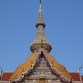 Wat Chaimongkron Phra Wihan Gable And Spire Dthcb0090 by Gerry Gantt