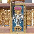 Wat Chedi Mae Krua Wihan Veranda Rail Decorations Dthcm1847 by Gerry Gantt