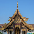 Wat Jed Yod Gable Of The Vihara Of The 700 Years Image Dthcm0963 by Gerry Gantt