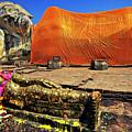 Wat Lokayasutharam Reclining Buddha In Ayutthaya, Thailand by Sam Antonio Photography