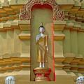 Wat Nam Lom Phra Chedi Buddha Image Dthla0094 by Gerry Gantt