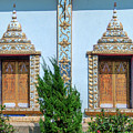 Wat Nam Lom Phra Wihan Windows Dthla0090 by Gerry Gantt