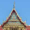 Wat Phrom Chariyawat Phra Ubosot Gable Dthns0116 by Gerry Gantt