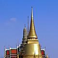 Wat Po Bangkok Thailand 3 by Douglas Barnett