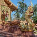 Wat Suan Prig Phra Wihan Makara And Naga Guardian Dthcm2395 by Gerry Gantt