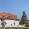 Wat Traphang Thong Lang Phra Ubosot And Main Chedi Dthst0168 by Gerry Gantt