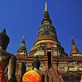Wat Yai Chai Mongkol In Ayutthaya, Thailand by Sam Antonio Photography