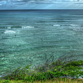 Watching From Afar Kuilei Cliffs Beach Park Surfing Hawaii Collection Art by Reid Callaway