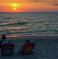 Watching Sunset At Gulf Of Mexico by Les Palenik