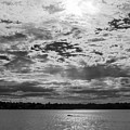 Water And Sky - Bw by Brian Wallace