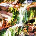 Water Cascading by Jeelan Clark