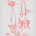 Water Closet Patent Art Grey by Prior Art Design