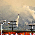 Water Drop On The Station Fire by Clayton Bruster
