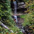 Water Falls In Autumn by Randy Gebhardt