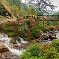 Water Flowing Through Rocks Kukhola Falls Sikkim by Rudra Narayan Mitra