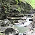Water Flowing Through The Gorge by Carol McGrath