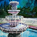 Water Fountain Acrylic Painting Art Print by Derek Mccrea
