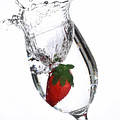 Water Glass Strawberry by James Holt