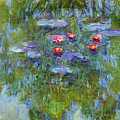 Water Lilies 1919 3 by Claude Monet