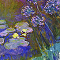 Water Lilies And Agapanthus 1917 by Claude Monet