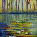Water Lilies No 2. by Evgenia Davidov