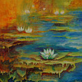 Water Lilies No 4. by Evgenia Davidov