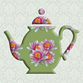 Water Lily Pattern Teapot by Anthony Murphy