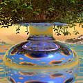 Water-mirror-urn Randm Yello Sky Glo by Terry Anderson