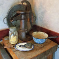 Water Pump In Kitchen by Susan Savad