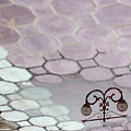 Water Reflection Of Garden Lamps At The Akshardham Temple, Jaipur  by Prakash Ghai