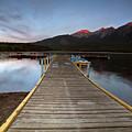 Water Reflections At Pyramid Lake by Mark Duffy
