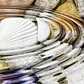 Water Ripples Above Sea Shells by Michal Boubin