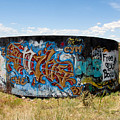 Water Tank Graffiti by David Lee Thompson