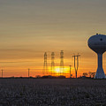 Water Tower Of Sunset by Doug Daniels