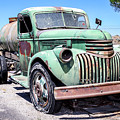 Water Truck - 1945 Chevrolet On Route 66 by Gene Parks