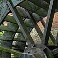 Water Wheel At Graue Mill, Oakbrook, Illinois by Gary Sibio